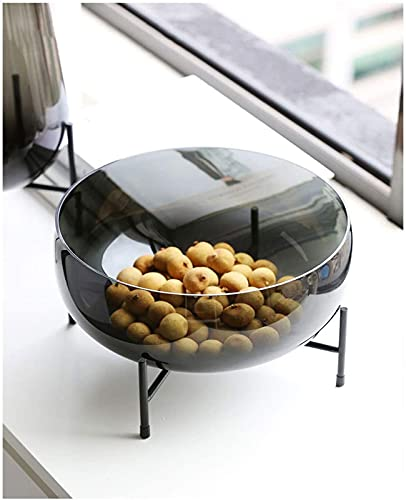 ZCRR - Ciotola per frutta in vetro, per soggiorno, cucina, tavolo da pranzo, per frutta