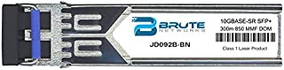 Brute Networks JD092B-BN - 10GBASE-SR 300m MMF 850nm SFP+ Transceiver (Compatible with OEM PN# JD092B)