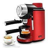 GXLO Máquina de café exprés Retro de 5 Barras Cafeteras con Sistema de Bomba de espumador de Leche Incorporado Espumador de Leche para cafeteras 800W