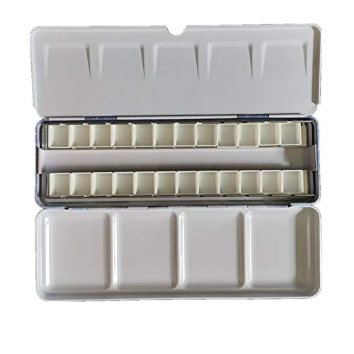 BOOYEE Empty Watercolor Tin Box Palette Paint case (Starry with 24pcs Half Pans)