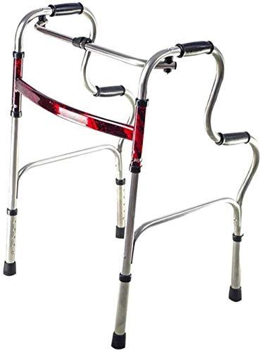 Gehrahmen Rollatoren Faltbare senioren Rehabilitation Auxiliary doppelt gekrümmte Walker senioren 53 Walker × 45 × 74 (92) cm leichtgewichtrollator faltbar