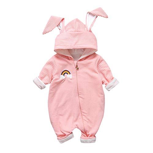 95sCloud Baby Overall Schneeanzüge mit Hase Ohren Kapuzenpullover Kaninchen Jumpsuit Baby Langarm Strampler Schneeanzug Romper Jungen...