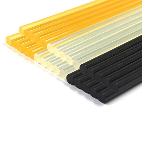 Anyyion 30 PCS Paintless Dent Repair Kits Glue Sticks, 30Park - (10 Packs Black & 10 Pack Yellow & 10 Pack Transparent) Size: 11mm 270mm