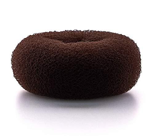 AJOY 2 Pieces Extra Large Hair Donut Bun Maker, Sock Bun Form for Long Hair, 4.4 Inch Brown
