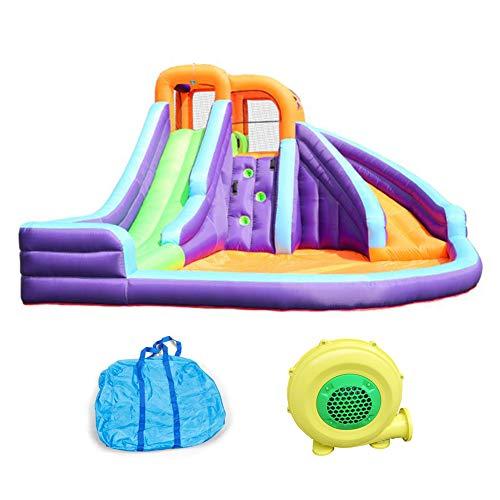 GHH Castillo Hinchable con Tobogán para Niños para Infantil Centro de Juego para Jardín Exterior Hogar Tejido Oxford, 420x365x225 cm