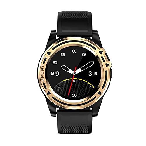 ZYZ DT18 - Reloj inteligente con Bluetooth, tarjeta SIM, cámara TF, podómetro de ejercicio, pulsera recordatoria inteligente, adecuado para Android iOS, color dorado