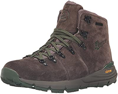 "Danner Men's Mountain 600 4.5"" Hiking Boot, Dark Brown/Green-Suede, 10.5 D US"