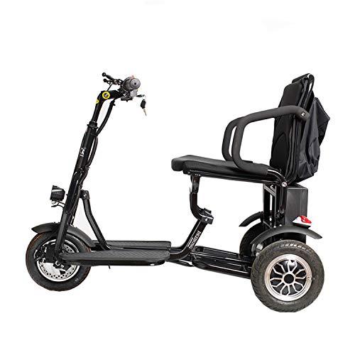 JHKGY Leichtgewichtige Tragbare 3-Rad-Motorroller -Zusammenklappbarer Elektromobil,Erwachsene/Ältere/Behinderte...