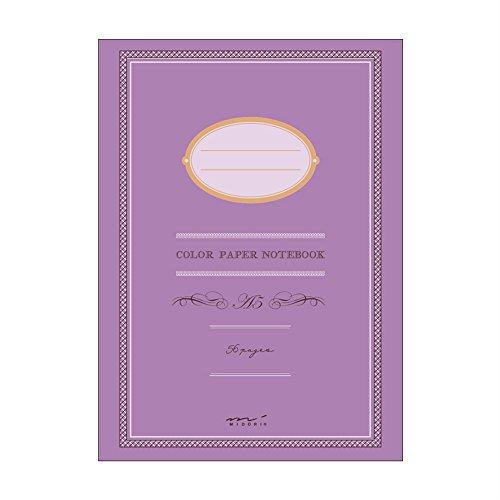 Cuaderno MIDORI Color PAPER NOTEBOOK A5 56 páginas sobre papel a juego con el color de la tapa – Viejos Rosa – Encuadernación grapada – Hecho in JAPAN