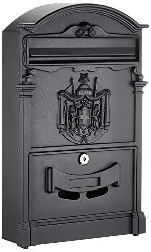 Arregui Residencia D-2151/N Buzón Individual de Aluminio de Estilo Clásico, tamaño M (DIN A4), negro