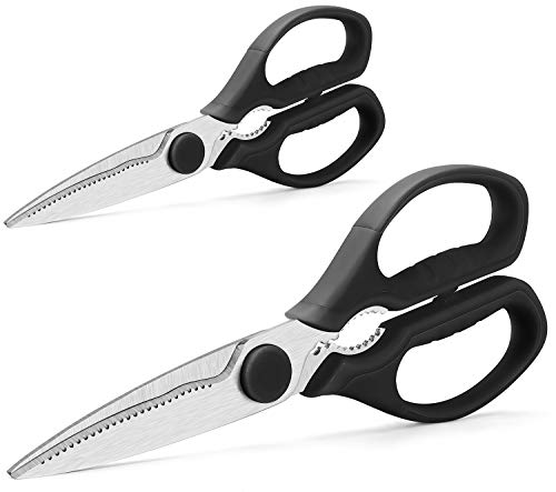 Find Cheap Multifunction Kitchen Scissors 2-Piece Set WELLSTAR, Heavy Duty Food Shears for Chicken M...