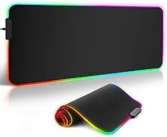 Gaming Muismat XXL ARCHEER RGB Grote Mouse Pad 800 x 300 x 4 mm met 12 verlichtingsmodi onderkant van rubber antislip...