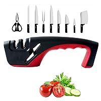 ナイフ削り 家庭用ナイフシャープの多機能高速ブレイドプロフェッショナル削りされなくなった面倒な台所のガジェットファミリー-H 2.8インチのためのあなたのギフト、赤 (Color : Red, Size : ONE SIZE)