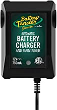 Battery Tender Junior 12V Charger and Maintainer: Automatic 12V Powersports Battery Charger and Maintainer for Motorcycle, ATVs, and More - Smart 12 Volt, 750mA Battery Float Chargers - 021-0123