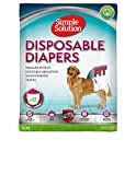 Simple Solution Disposable Dog Diapers for Female Dogs | Super Absorbent Leak-Proof Fit | XL | 12 Count