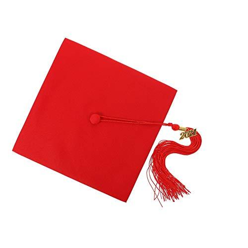 ABOOFAN Gorra de Graduacin con Borla Ajustable Adultos Estudiantes Mortero Junta Graduacin Sombrero Vestir Accesorios para Los Accesorios de La Foto del Maestro de La Graduacin de La
