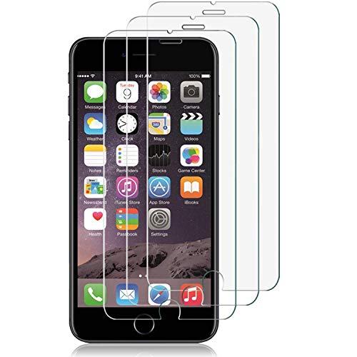 [3 Stück] Panzerglas Schutzfolie für iPhone 8/ iPhone 7/ iPhone 6/ iPhone 6S,HD Displayschutzfolie,Anti-Kratzen,Anti-Bläschen,9H Glas Folie Panzerglasfolie,Ultra-Klar,Ultrabeständig