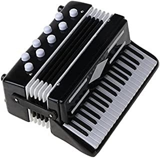 MYLOVE 1/12 Dollhouse Wooden Accordion Miniature Musical Instruments Model Collection