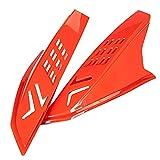 Blesiya Casco de plástico Orejas Cuernos Punk Protector Decorativo Elegante Accesorios de Moto Decoración Adhesiva Fuerte Fácil de Instalar - Rojo