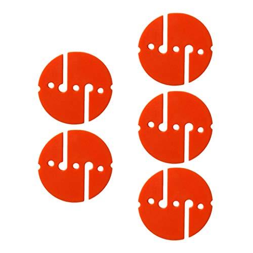 MOUNTAIN MEN 10pcs Ronda de Buceo Línea Flecha Marcador for Scuba Cave y Salto de la ruina Piscina de Agua Accesorios Lago Bay Deportes de Aventura Diver (Color : Orange)