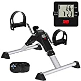 GOREDI Pedal Exerciser, Sitting Pedal Exerciser for Arm/Leg Workout, Portable Bike Pedal Exerciser