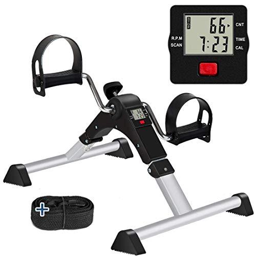 GOREDI Pedal Exerciser, Sitting Pedal Exerciser for Arm/Leg Workout, Portable Bike Pedal...