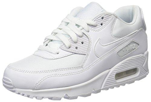 Nike Air Max 90 Essential, Baskets Homme,Blanc (White 111), 41 EU