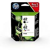 Multipack 2 Cartouches HP 62 Noir et Couleur pour imprimante HP Envy 5540 5541 5542 5543 5544