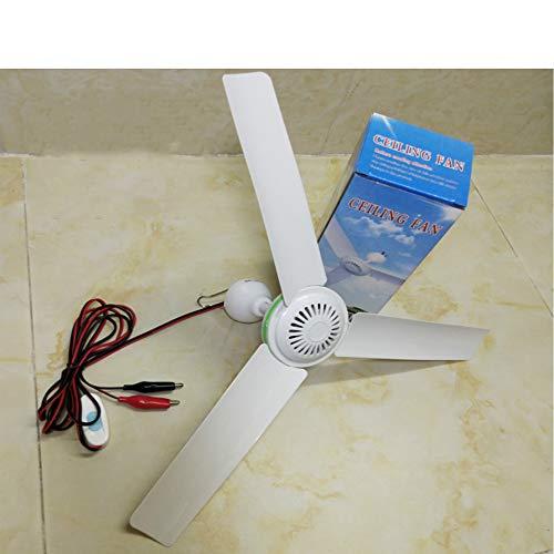 ceiling fan Ventilador de Techo de 12 V, Ventilador pequeño de CC, Ventilador de batería, Ventilador de Captura(36v+5m;)