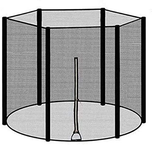 SKYWPOJU Red de seguridad para trampolín 183/244/306/366 cm para 6/8 postes,sin postes,red de seguridad Trampolín de jardín Red de reemplazo de trampolín de nailon duradero Red protectora de trampolín