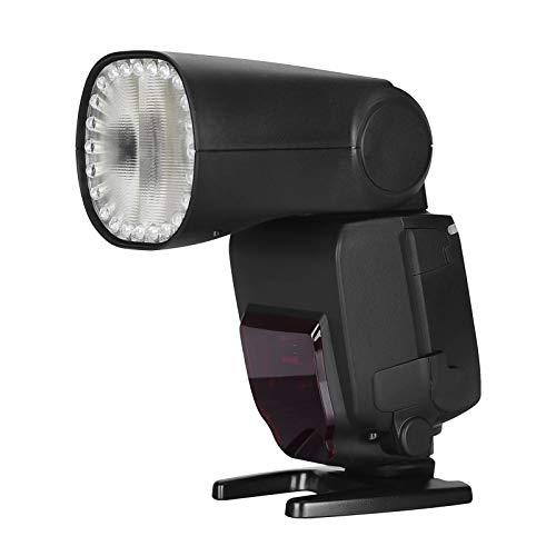 CuteLife Flash Speedlite Flash De La Cámara Incorporada 2.4G Inalámbrica 1 / 8000S Sincronización De Alta Velocidad con Pantalla LCD Reemplazo De Zapatos Caliente (Color : Black, Size : One Size)