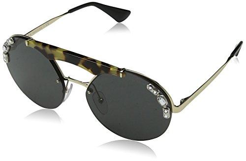 Prada 0PR52US I8N5S0 37 Gafas de Sol, Dorado (Pale Gold/Medium Havana/Grey), Mujer