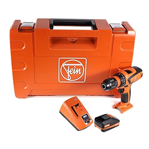 FEIN ASCM 18 QSW 71161264000 - Taladro atornillador inalámbrico (4 marchas, 18 V, 40 Nm, incluye maletín con batería de 3 Ah y cargador)