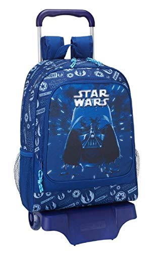 Star Wars Darth Vader Startrooper Yoda Luke Skywalker (STK) - Kinder Jungen Mädchen Trolley Rucksack, blau, 43 x 33 x 15 cm