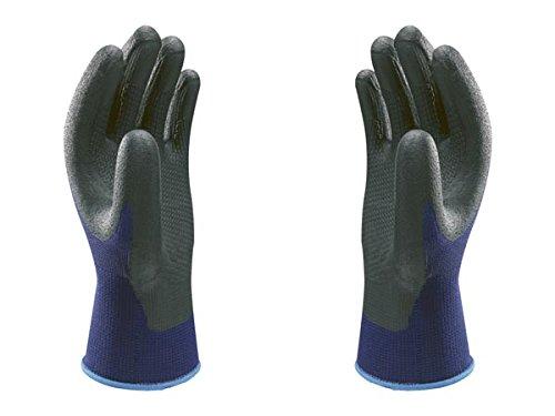 SHOWA 380, Rivestimento in Nitrile microporoso, Usi generici, Blu con palmo nero, 8/L
