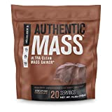 Authentic Mass Gainer - Clean Weight Gainer Protein Powder for Lean Muscle Growth - Muscle Building Bulking Mass Builder for Strength & Size - Post Workout Recovery, Chocolate Flavor - 4.4LB