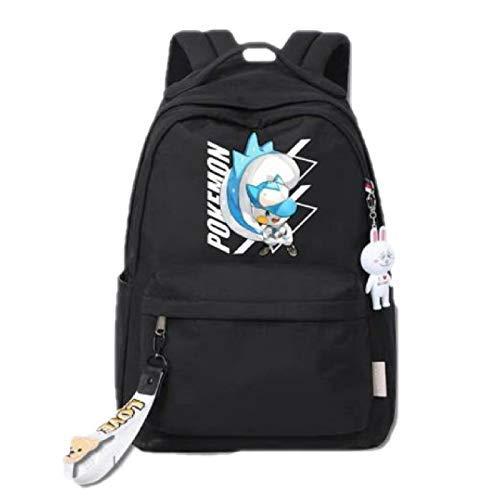 min min Pokemon School Bag Pokémon Pokémon Pokémon Pikachu Pokachu Redondeo Estudiante Schoolbag Hombres y Mujeres Mochila
