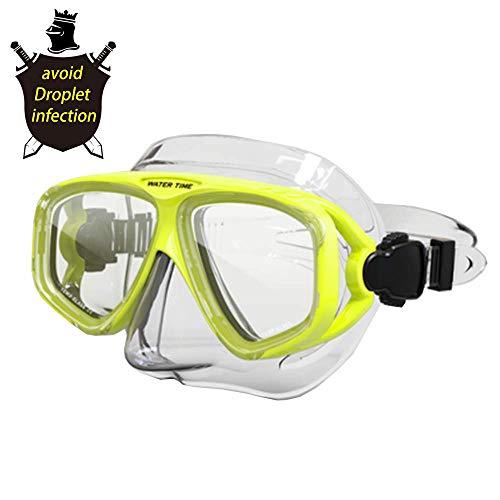 Brille im Freien Anti-Fog Männer Frauen Bike, Schwimmbrille Nasenschutz-Augen-Gläser für Prevent Droplets Goggle Fog,Grün