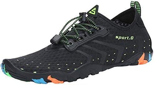 SAGUARO Escarpines Zapatos de Agua Calzado Playa Zapatillas Deportes Acuáticos para Buceo Snorkel Surf Natación Piscina Vela Mares Rocas Río para Hombre Mujer (Negro,43 EU)