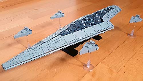 Modbrix Supersternenkreuzer Raumschiff, Imperiale Sternenflotte Bausteine Set, 56 cm, 1185 Klemmbausteine