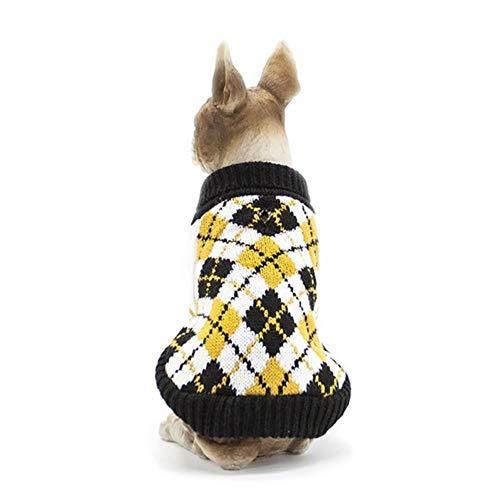 Pun Puppy kat trui winter jas hond herfst en winter kleding met ruit ontwerp gebreide kleding