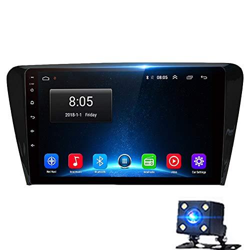 NBVNBV Multimedia Video Player Touchscreen Auto GPS Navigationssystem Radio Fit für Skoda Octavia 2013-2018 A7 Bluetooth Wi-Fi / 4G AM/FM-Tuner,4g (4gb 64gb)
