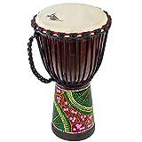 Djembes African Drum, AKLOT Bongo Congo Percussion Drum Hand-Painted 9.5'' x 20'' Mahogany Goatskin...