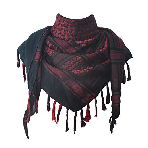 JONKUU® Halstücher PLO Schal°110x110 cm°Pali Palästinenser Arafat Tuch°100% Baumwolle - Viele Farben (Rot, Einheitsgröße)