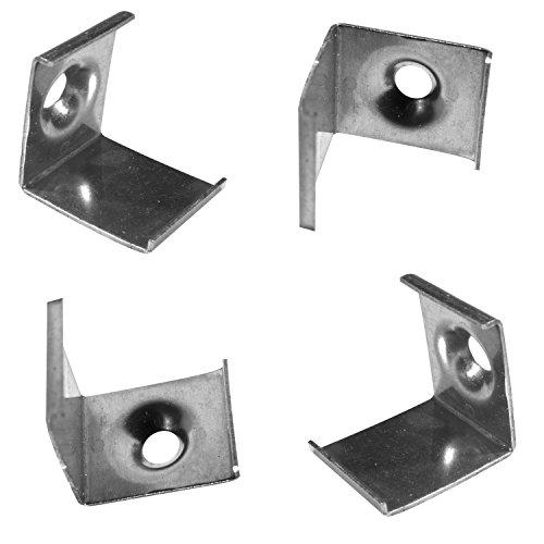 4x Montagehalterungen für das Alu-Modell ECKE-Rund von Alumino® zum Einklicken