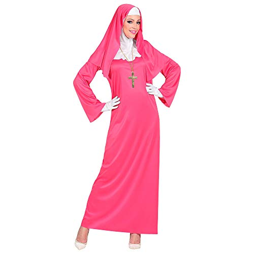 Widmann 09953 kostuum Non, dames, roze