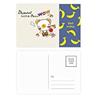 創造的な漫画の動物の果実 バナナのポストカードセットサンクスカード郵送側20個