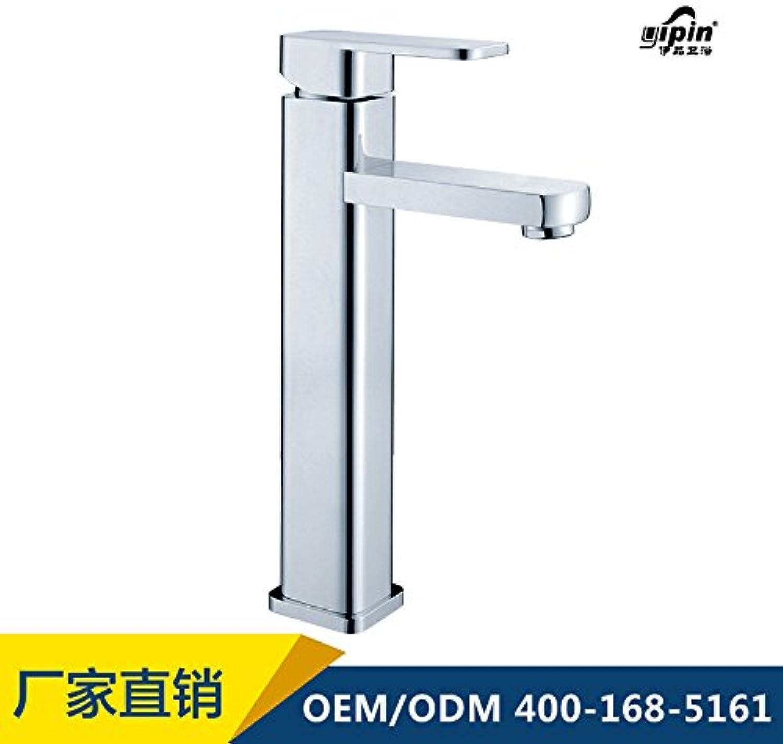 Jduskfl Kitchen Faucet Net Faucet Bathroom Faucet Temperature Sensor Led Faucet 3 color Water Double Handle Waterfall Bathroom Tap,White