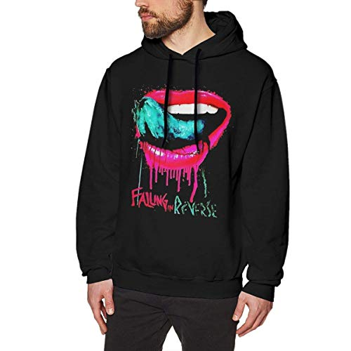 DDECD Herren Hoodie Kapuzenpullover Falling in Reverse Man's Hoodie Sweater Fashion Classic Long Sleeve Top Hoodies Hooded Sweatshirt