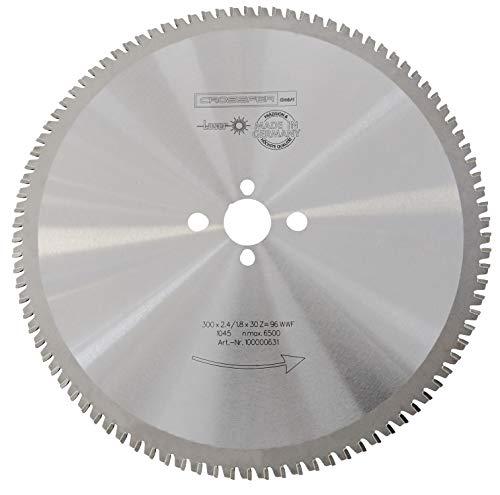 CROSSFER HM Kreissägeblatt 300 x 30 mm Z96 Multifunktionssägeblatt für Metall Kunststoff Spanplatten Laminat Hartmetall bestückt für Kreissägen